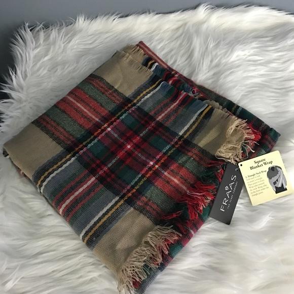 cdb2d96d9600 Fraas Plaid Blanket Scarf